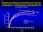 doubling loading and maintenance dose of c lopidogrel in acs patients undergoing pci