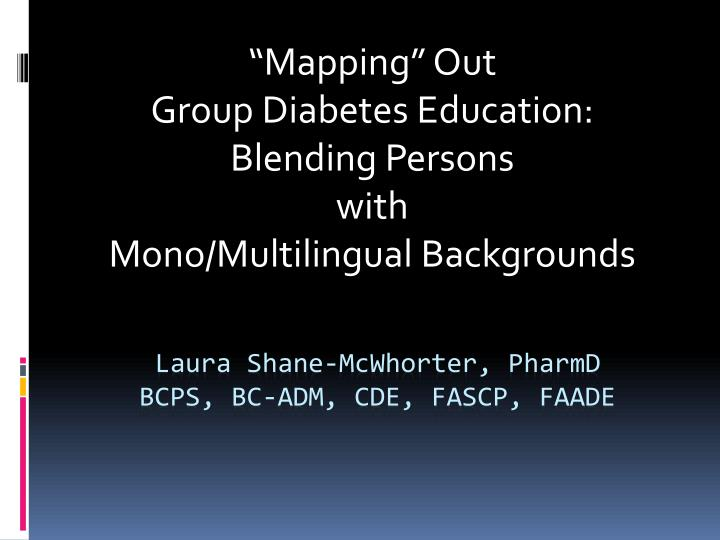 mapping out group diabetes education blending persons with mono multilingual backgrounds n.