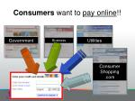consumers want to pay online