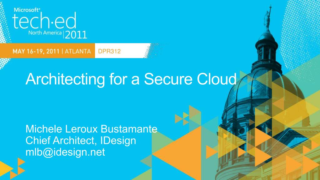 architecting for a secure cloud l.