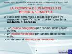 la proposta di un modello di memoria semantica25