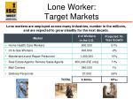 lone worker target markets