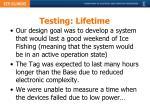 testing lifetime