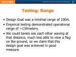 testing range