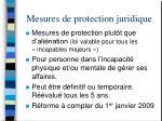 mesures de protection juridique34