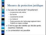mesures de protection juridique35
