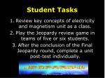 student tasks