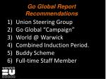 go global report recommendations
