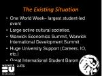 the existing situation