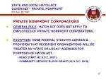 state and local hatch act coverage private nonprofit 5 u s c 1501