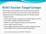 h1n1 vaccine target groups