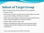 subset of target group