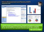 microsoft assessment and planning map assessment tools
