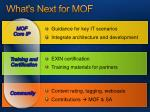 what s next for mof