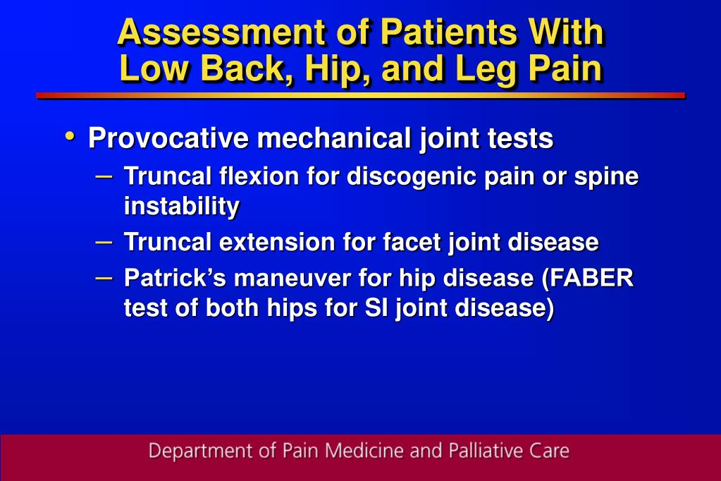 Assessment of Patients With
