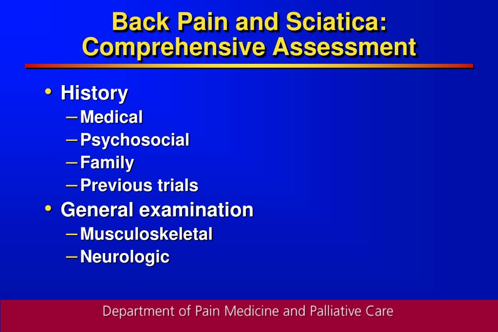 Back Pain and Sciatica: