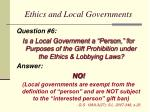 ethics and local governments