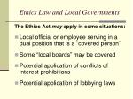 ethics law and local governments1