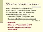 ethics law conflicts of interest