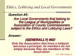 ethics lobbying and local governments1