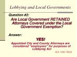 lobbying and local governments