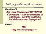 lobbying and local governments1