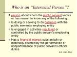 who is an interested person