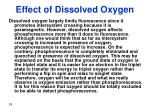 effect of dissolved oxygen