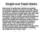 singlet and triplet states