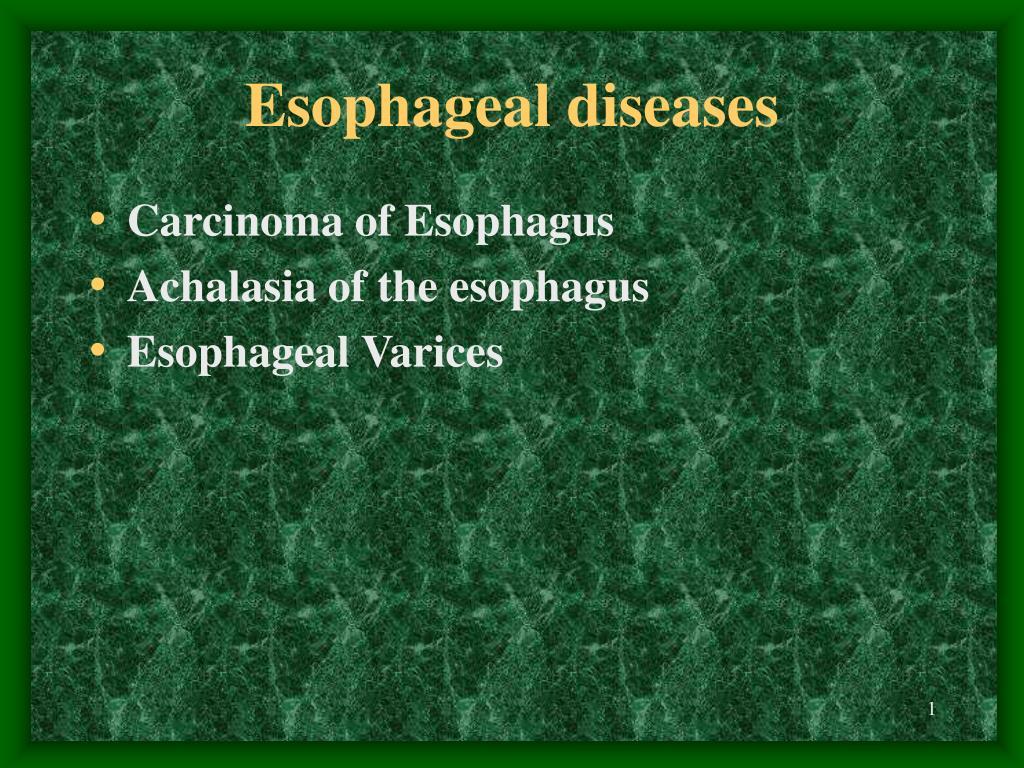 esophag e al diseases l.