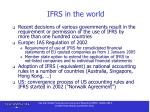 ifrs in the world