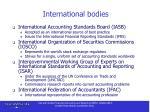 international bodies