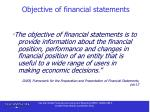 objective of financial statements