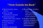 think outside the back