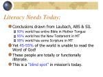 literacy needs today