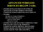 advanced wireless services below 3 ghz