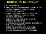 digital fm broadcast