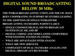 digital sound broadcasting below 30 mhz
