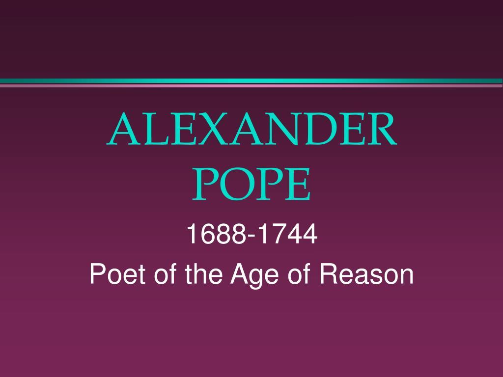 alexander pope l.