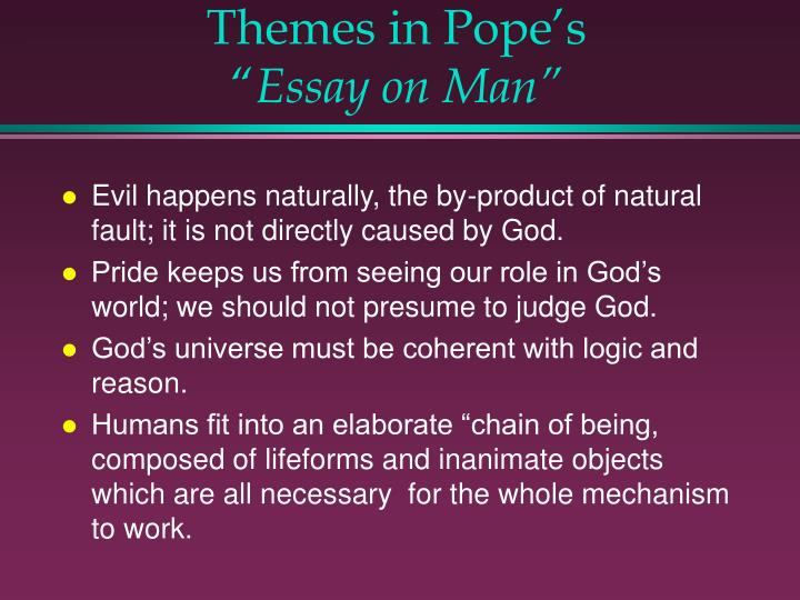 "ppt alexander pope powerpoint presentation id  themes in pope s ""essay on man"""
