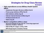 strategies for drug class review examples