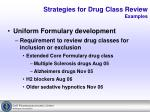 strategies for drug class review examples10