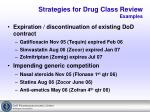 strategies for drug class review examples8