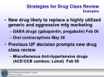 strategies for drug class review examples9