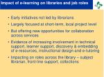 impact of e learning on libraries and job roles