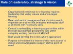 role of leadership strategy vision