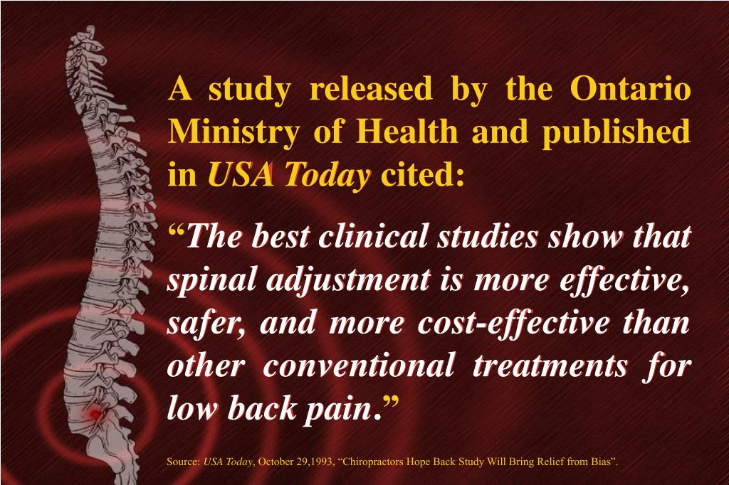 A study released by the Ontario Ministry of Health and published in