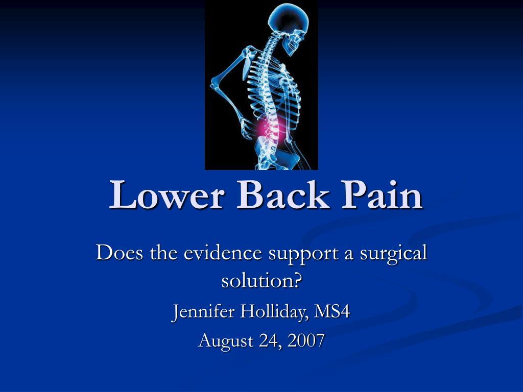 lower back pain l.