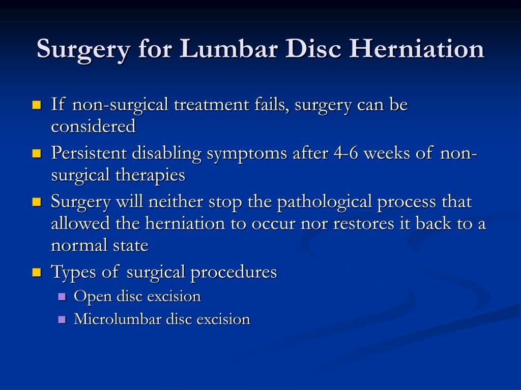 Surgery for Lumbar Disc Herniation