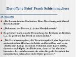 der offene brief frank schirmmachers